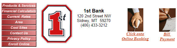 1st bank top bar from their old website