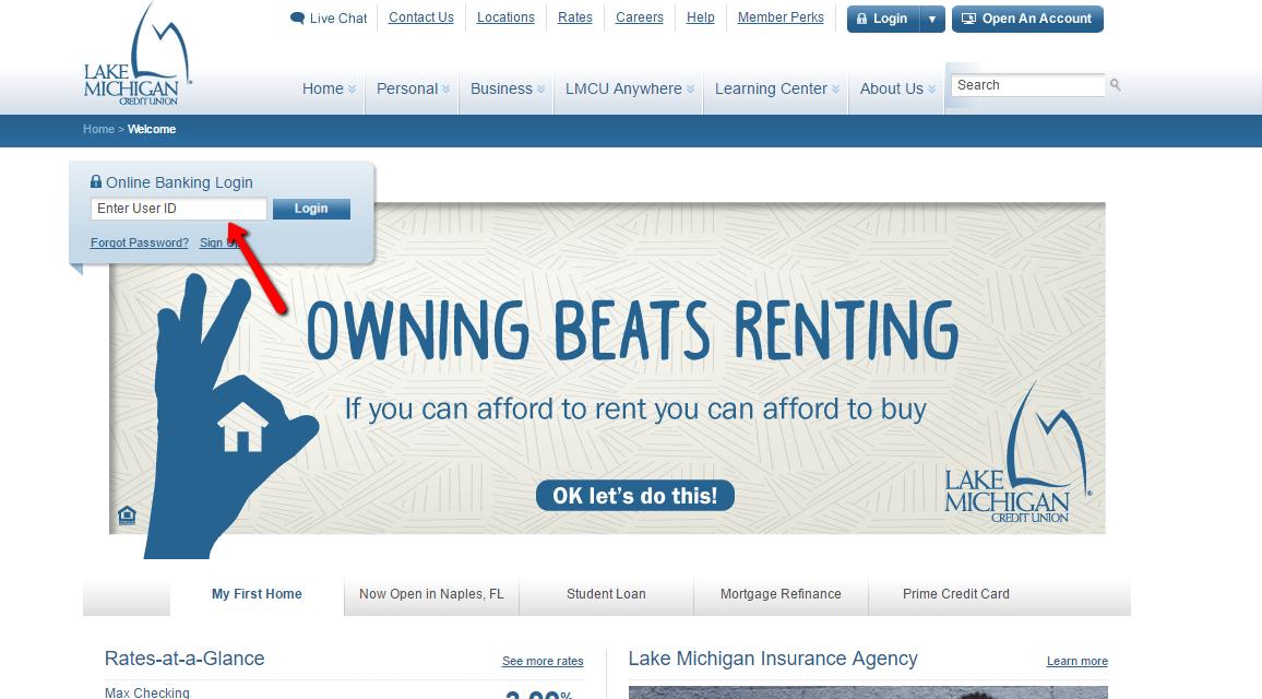 Lake Michigan Credit Union Online Banking Login - Login Bank