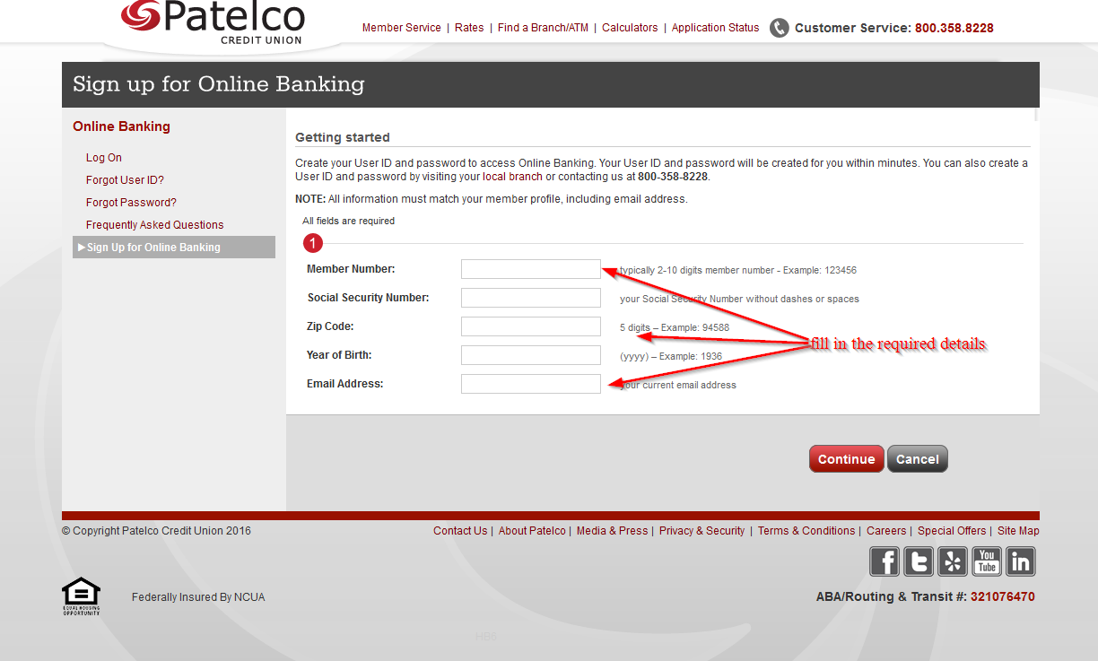 Patelco Credit Union line Banking Login Login Bank
