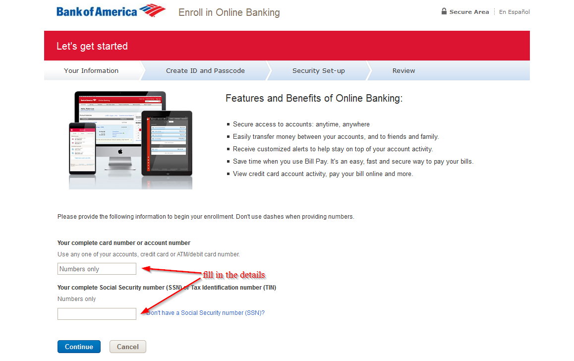 Bank Of America Online Banking Login Login Bank