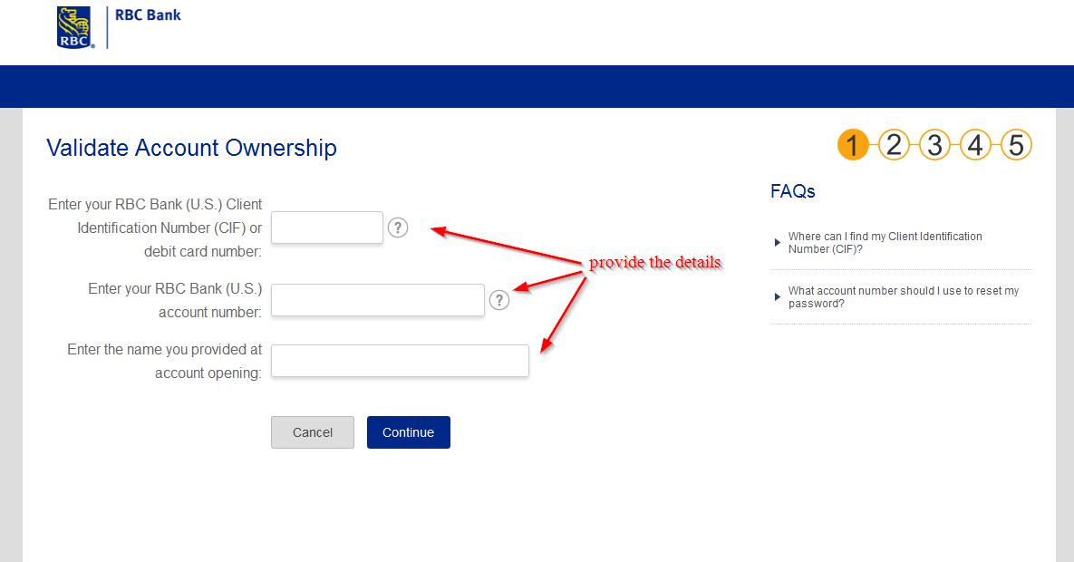 Rbc bank usa fax number