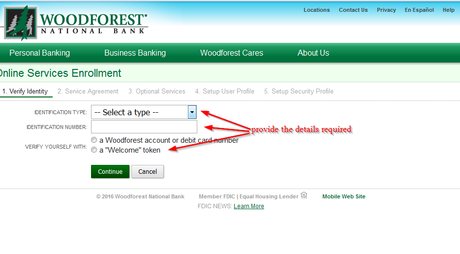 www woodforest com enroll