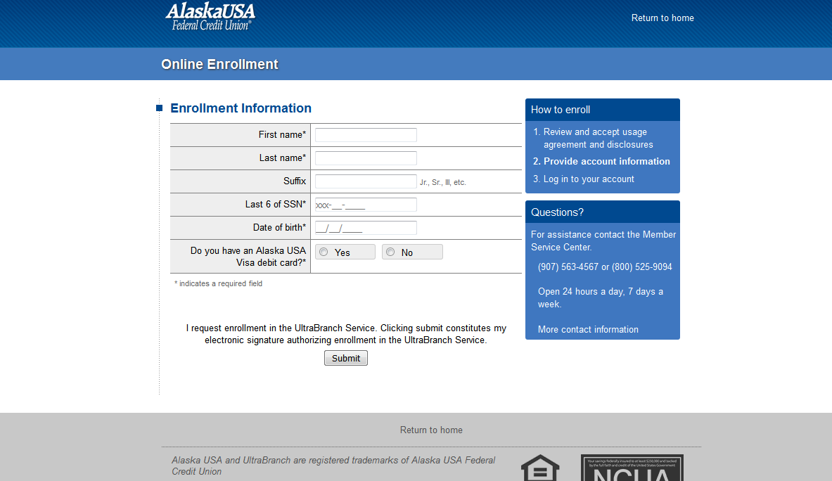 alaska usa federal credit union online banking login - login bank