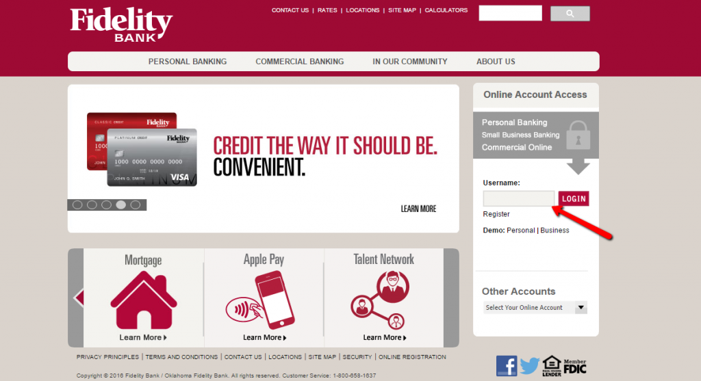 fidelity deposit and discount bank login