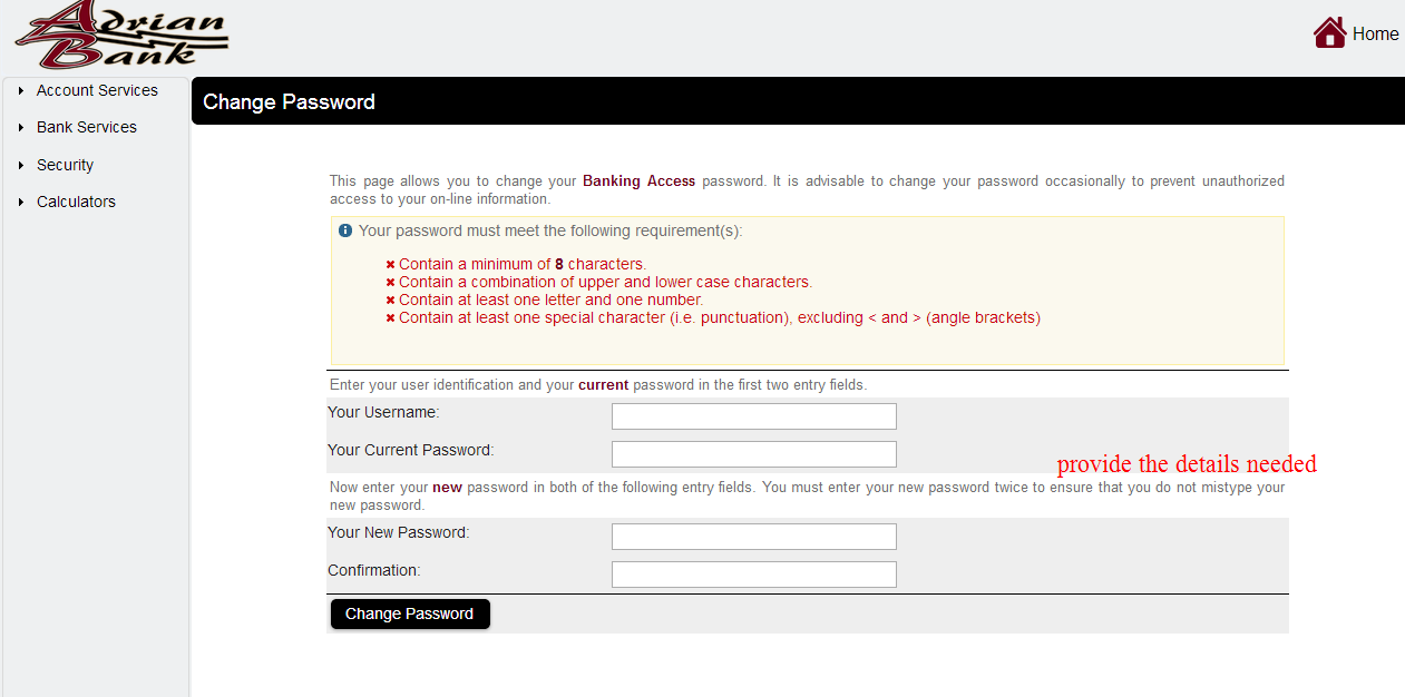 Reset the Username & password.