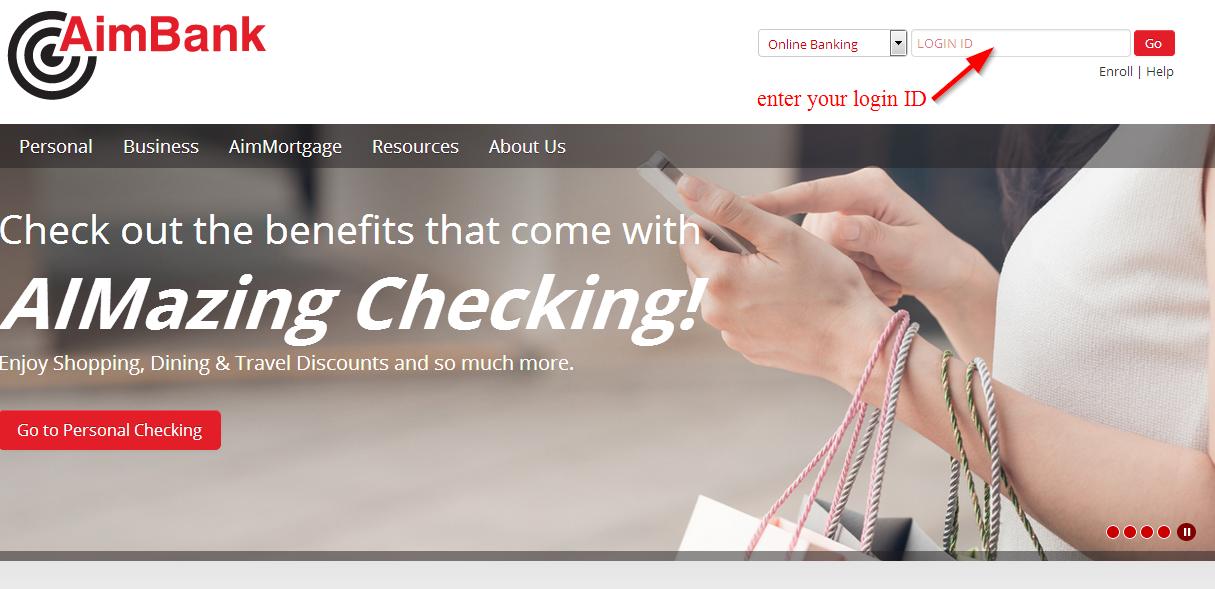 AimBank Online Banking Login Id
