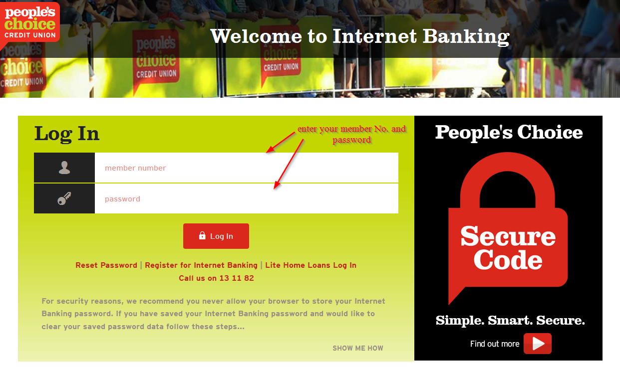 login choice bank peoples union credit banking password number step forgot