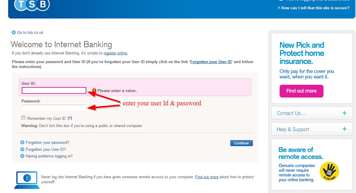 lloyds tsb online banking login uk